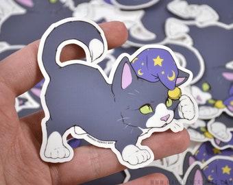 "Wizard Kitten 3"" Vinyl Sticker"