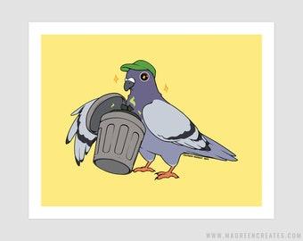 Trash Pigeon Art Print