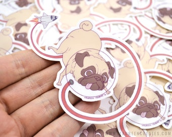 """Space Pug 3"""" Vinyl Sticker"""