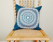 Linen Pillow with Vintage Hand-tatted Doily