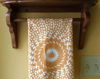 Golden Sunshine linen and cotton tea towel, designed by LFNTextiles