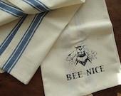 BEE NICE cotton stripe towel
