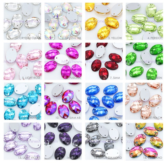 Olivine Green 100 Non-Hotfix Flatback Glass Crystal Diamanté Rhinestones
