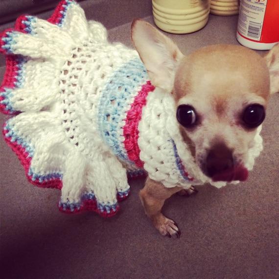 Pdf Pattern Puffa Love Crochet Dog Dress Pattern Etsy