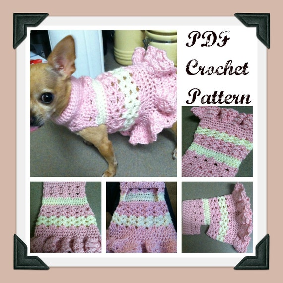 Pdf Crochet Pattern Littlest Bo Peep Crochet Dog Dress Etsy