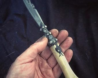 Deer Bone Athame, Boline or Ritual Knife