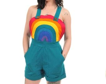 Rainbow dreams dungarees/ teal - fairylove