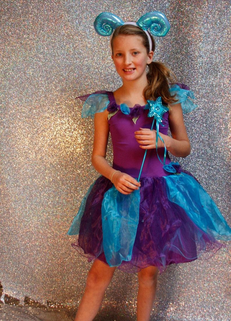 fairylove 3 sizes Purple petal flower fairy dress