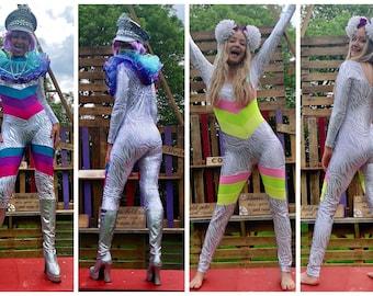 Chevron metallic catsuits - unisex - fairylove