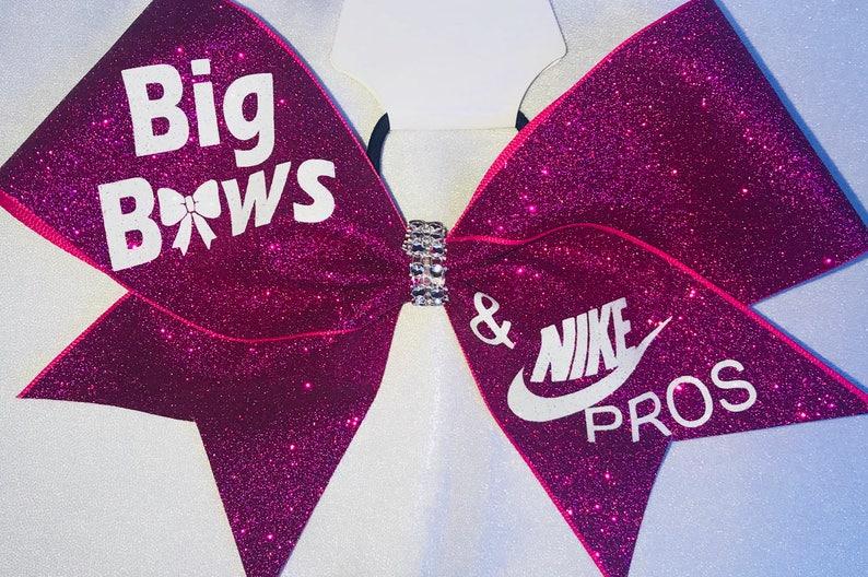 9182f9cf7234 Big Bows   Nike Pros Hot Pink Glitter