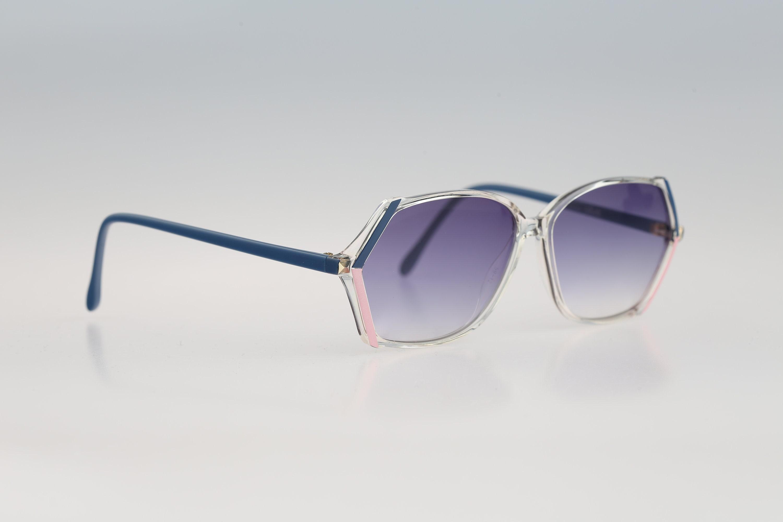 Silhouette M 1775 /20 C 2190 Vintage 80s unique blue & clear