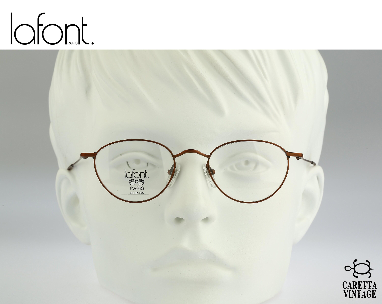 Runde Brille Lafont Jahrgang 45-90er Jahre elegante kleine | Etsy