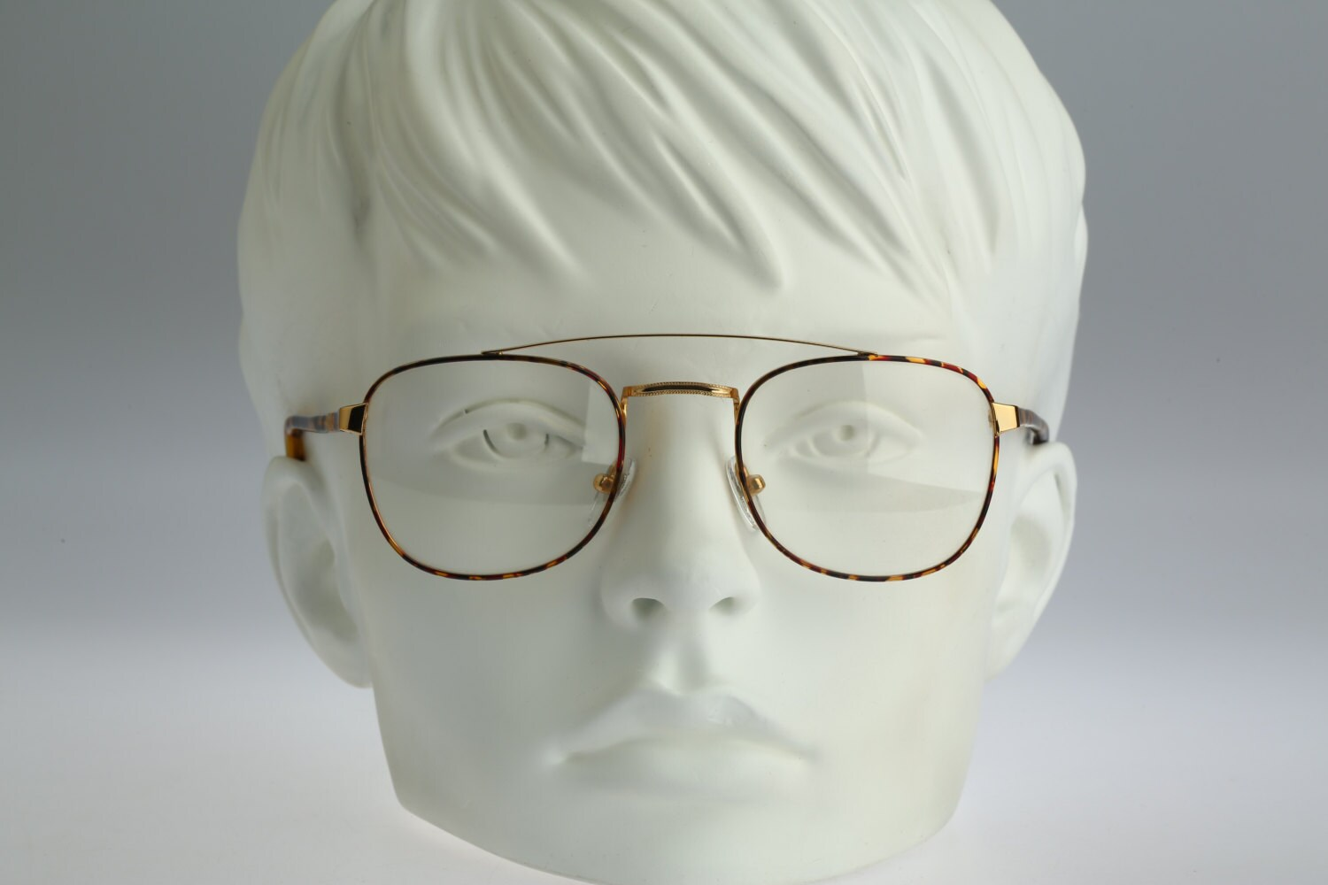 Cotton Club Vintage 90s gold and tortoise square aviator