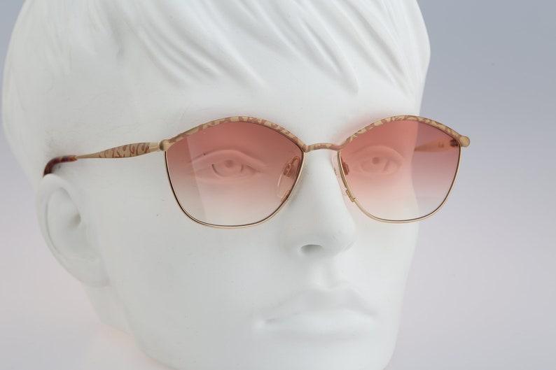 NOS Silhouette M 6278 20 V 6053 Titanium Vintage 80s unique tinted pink lenses square butterfly sunglasses women