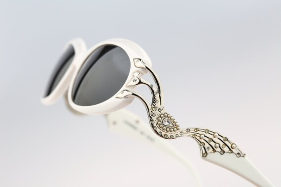 Rhinestone sunglasses, Galitzine G26, Vintage 90s
