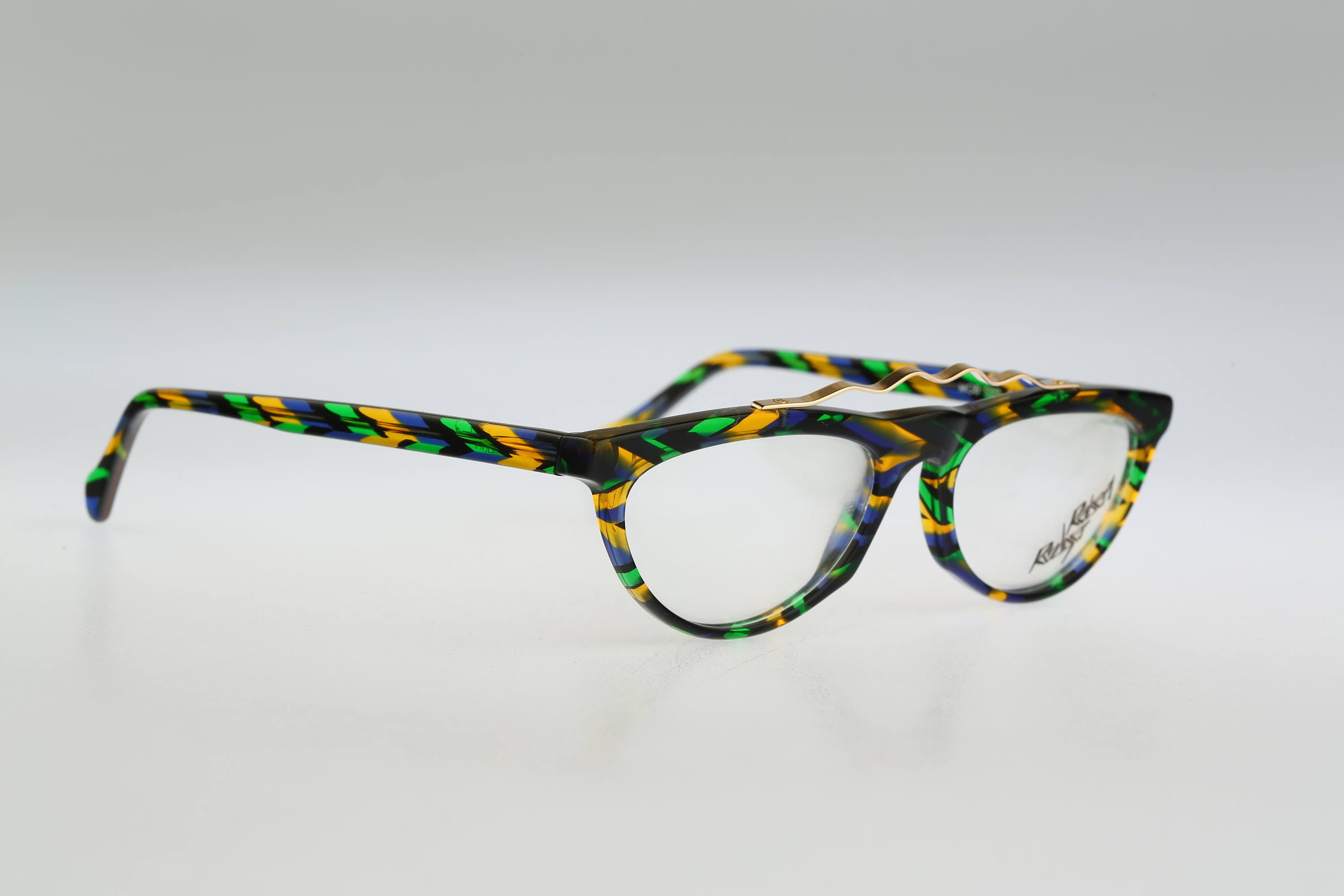 Robert Rudger 500 90 Vintage 90s unique colorful cat eye