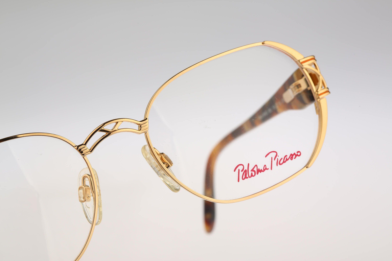 Paloma Picasso 8402 851 Vintage 90s designer gold hexagon
