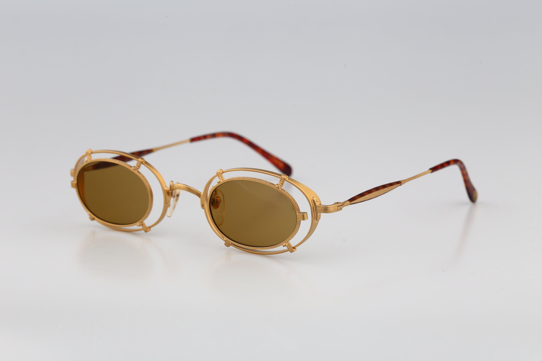 Matsuda 10607 GP YE Titanium Vintage 90s steampunk small gold