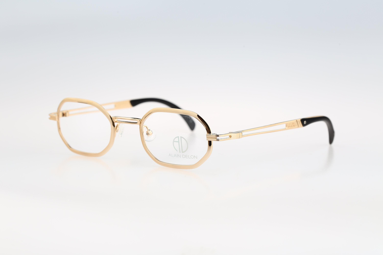 Alain Delon 3626 Vintage 90s designer gold small hexagon