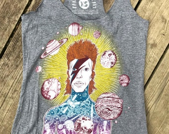 David Bowie Mens Vest Sleeveless Singlet Tank Top aao20081