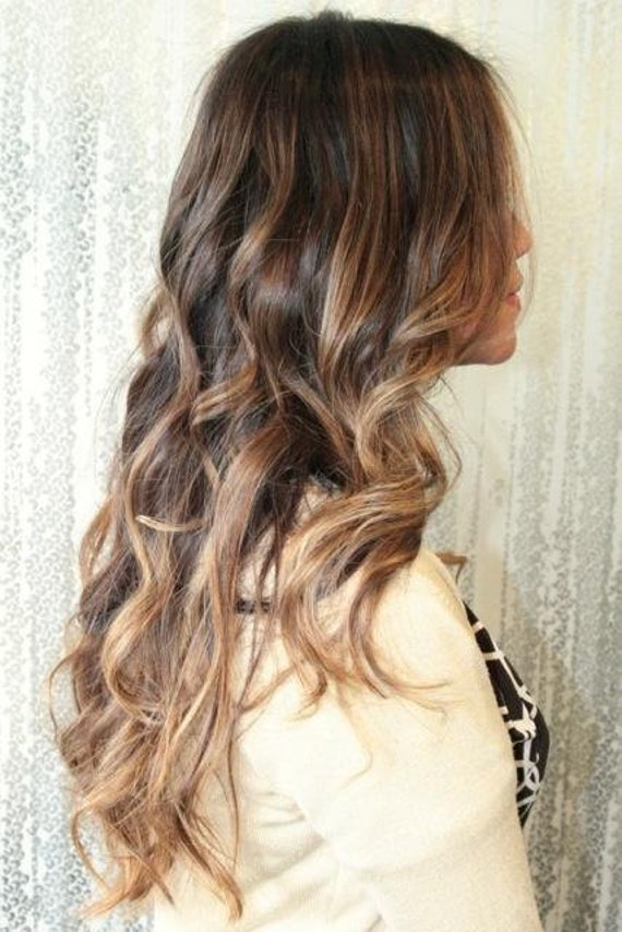 Blonde Ombre Hair Extensions Dark Blonde Ombre Balayage Etsy