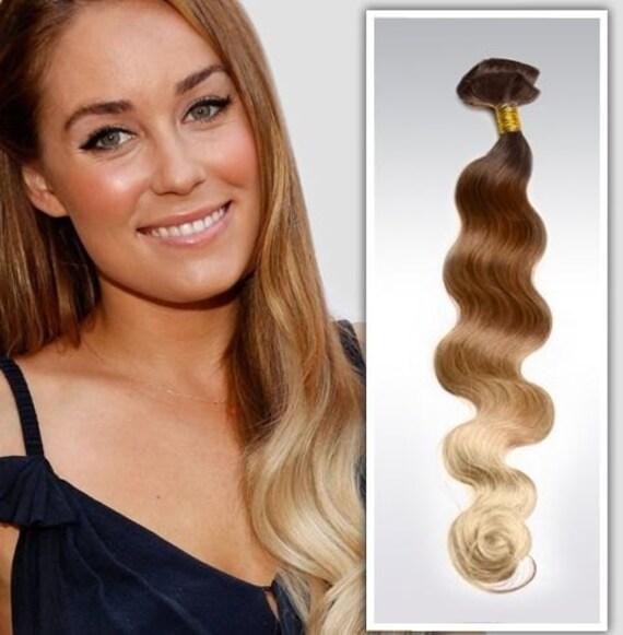 Lauren Conrad Hair Ombre Hair Clip In Hair Extensions Dark Etsy