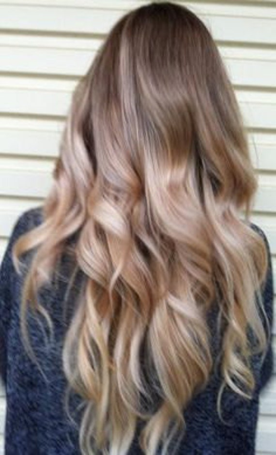 Ash Blonde Ombre Hair Balayage Track Hair Extensions Hand Etsy