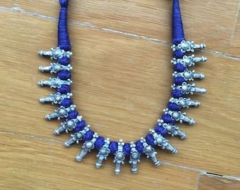 Tribal silver Necklace Vintage OOAK necklace