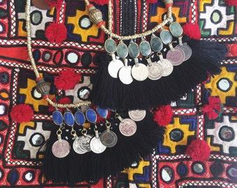 Indah Necklace coin tassel necklace