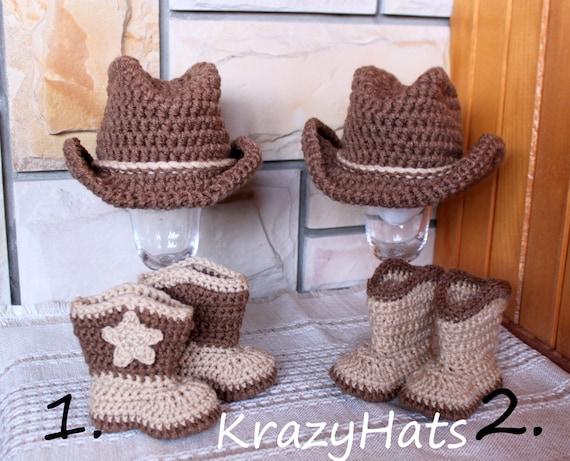 Crochet Cowboy Hat And Boots Crochet Cowboy Set Etsy