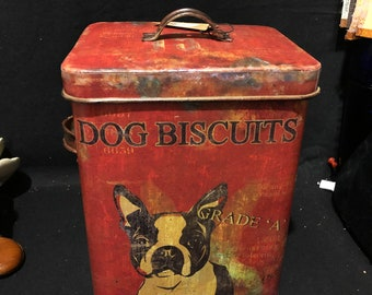 Creative Coop Dog Biscuit Tin