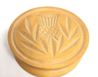 Hand-carved Wooden Shortbread / Butter Mold J & I Crichton Braemar Scotland