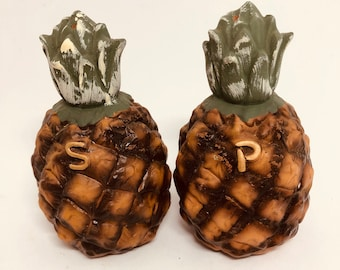Vintage bisque Pineapple salt and pepper shakers