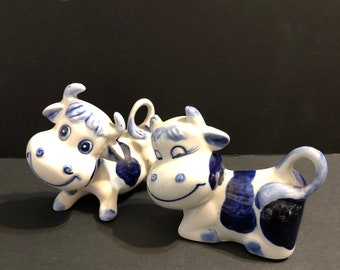 Delft Blue Happy Cows Figures