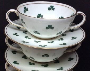 Royal Doulton double handle Shamrock Teacups