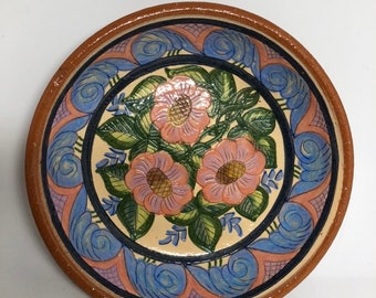 Beautiful hand-painted pottery bowl
