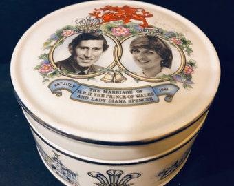 Sadler Diana and Charles Royal Wedding Trinket Jar