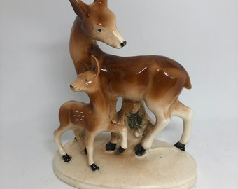 Deer and Fawn Figurine