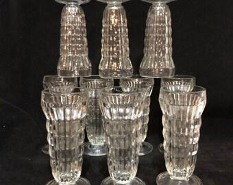 10 Jeanette Glass Parfait Glasses
