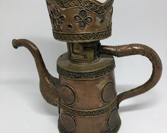 Brass and copper Coffeepot