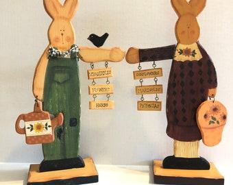 Mr. & Mrs. Garden Bunny