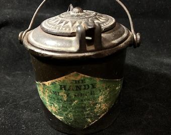 Cast Iron The Handy Family Glue Pot