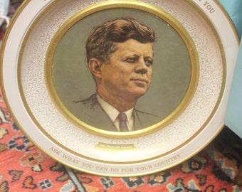 Vintage Kennedy Collector Tray