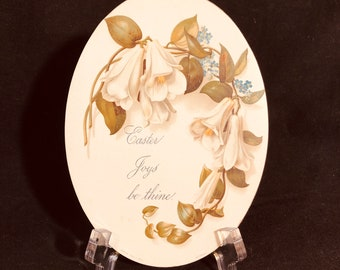 Oval Victorian Easter Card