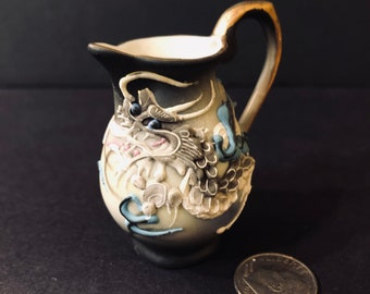 Miniature Moriage Satsuma Dragon Pitcher