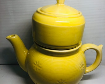 USA Pottery Stacked Teapot