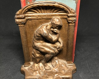Cast Iron The Thinker Bookends
