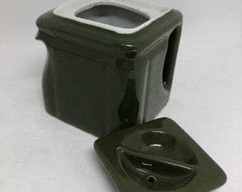 Hall Green Cube Teapot