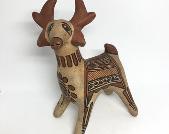 Mexican Pottery Deer Bank