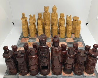 Hand carved Chinese Chess Pieces